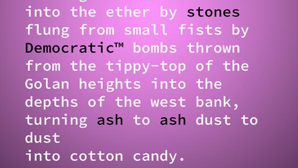 Section of Poem Negev Varod by Mickey Morgan